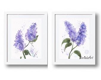 Lavender Wall Art lavender wall decor | etsy
