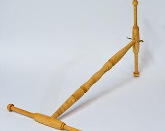 Hand-crafted Niddy-Noddies by Carl Jaeger. Wooden Niddy Noddy, Hand Turned Skein Winder, 2 Yard Niddy Noddy, Wisconsin Niddy Noddy