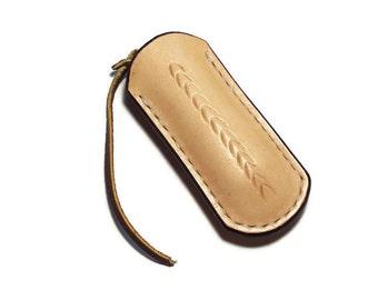 Custom Leather Small Flat Sheath