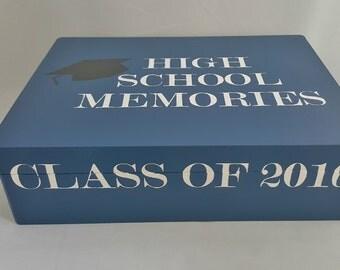 High School Memory Box, Graduation Memory Box, College Graduation Memory Box