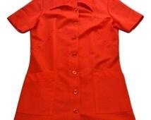 Vintage 70s Women's SHANE Waitress/Hostess Uniform USA Made
