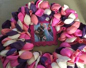 Frozen Birthday Balloon Wreath