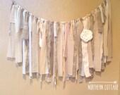 FABRIC GARLAND  // Fabric BANNER // Prairie, Shabby Chic, Romantic, Modern, Rustic, Handmade, Wedding, Nursery, Shower // You PiCK CoLoRs