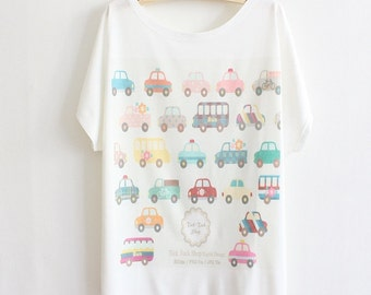 Lovely bus screen print tee