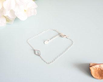 """Bracelet adjustable size """"triangulation"""" Sterling"""
