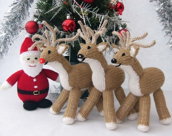 Hand-knitted Reindeer Toy