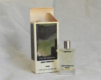 Pacco RABANE Perfume EDP CALANDRA  5 ml in Box, Full