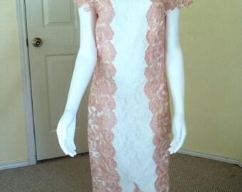 Gorgeous Lace Dress Bridal Shower Dress Bachelorette Dress Lace Dress,Engagement Dress,Wedding Dress,special occasion dress, size 10-12