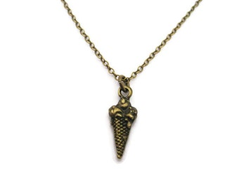 Ice Cream Necklace  Ice Cream Cone Necklace Food Necklace Food Jewelry Ice Cream Jewelry Gifts Under 20  Choose you Chain