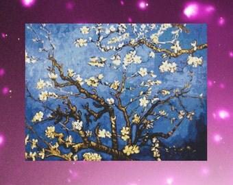 Instant PDF Download Cross Stitch Pattern Vincent Van Gogh Branches Almond Tree
