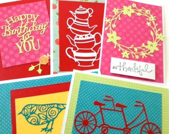 Card Set - Card Assortment - Greeting Card Set - All Occasion Cards - Note Cards - Handmade Cards - Birthday Cards - Thank You - Blank Card