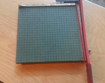 Vintage buddy products paper cutter/photo and paper cutter board and blade/Industrial paper cutter