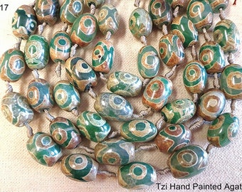 All Natural Hand Painted Agate !!!!!