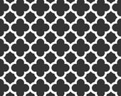 Quatrefoil in Black, Riley Blake Designs (C435-110) -- BY THE YARD