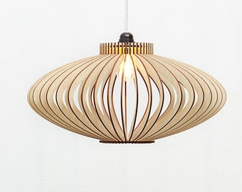 Hanging lamp etsy wooden hanging lamp wooden pendant light wooden lighting wooden lampshade wood lamp aloadofball Gallery