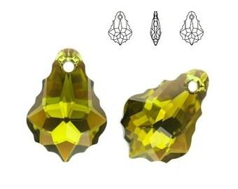 1 Swarovski Elements Crystal Baroque Pendant, 16mm  #6090