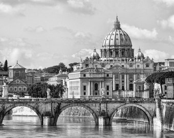 Photo Print of Rome and St. Peter's Cathedral - Rome, Italy