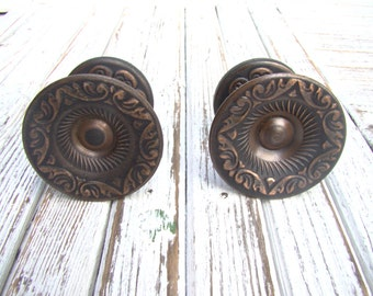 new vintage metal door handles set of 2 rustic decor retro door pull soviet door knobs