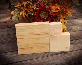 Unfinished stacking blocks unfinished wood blocks diy craft for Plain wooden blocks for crafts