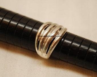 Vintage Sterling Silver 4 Line Ring - Size 6 1/2