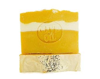 lemon soap - olive oil soap - natural soaps - bar soap - kitchen soap - scented soap bars - Michigan made soap - handcrafted soaps - vegan