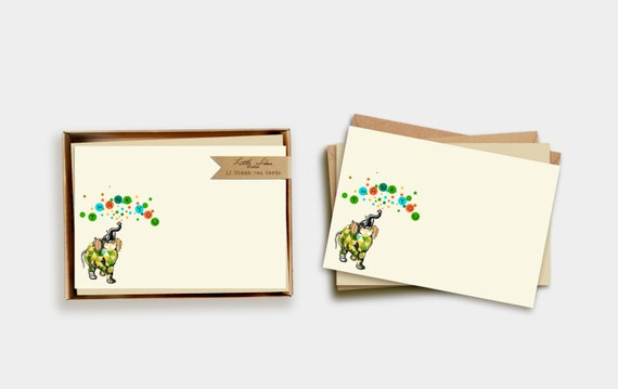 Elephant Thank You Note Card Set
