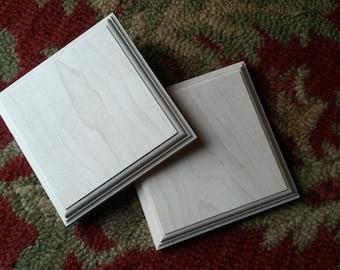 "Maple Wood Craft Square 6 1/4"" x 6 1/4"""