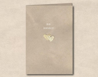 two hearts - double card wedding
