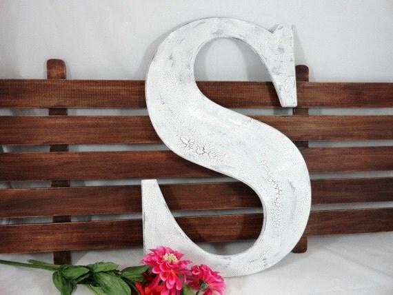 Large Decorative Wooden Letters: Wedding Signature Letters Wood Letters Large Painted By