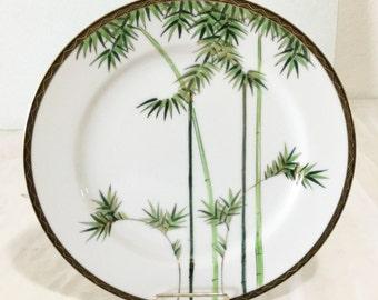 SOKO CHINA Japan Bamboo Dinner Plate Vintage Elegant pattern