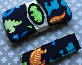 X-Ray Dinos ~ Travel Wipes Case & Diaper Strap