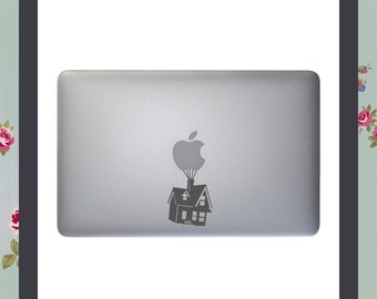 House floating up on balloons, Macbook Decal, Apple Macbook, iPad and other laptop