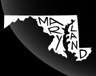 Maryland Decal Sticker Single Color