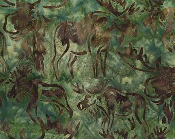 Robert Kaufman Artisan Batik Wildlife Sanctuary 3 Collection Earth Moose Batik Fabric by the Yard AMD-15554-169