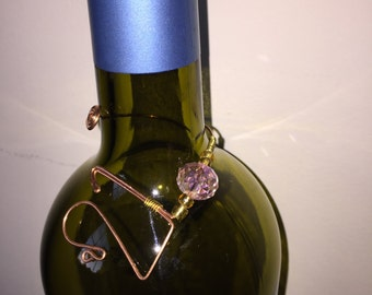 FREE SHIPPING! Bottle necklace. 21st birthday. wine bottle tag. bottle jewelry. neck charms. hostess gift. gift wrapped. wine jewelry.