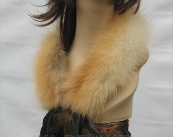 Christmas Gifts for hers Christmas Gifts for Mom Winter accessory collar fur Fox Handmade  Women Fur Neckwarmer Fox Fur Collar Gift for hers