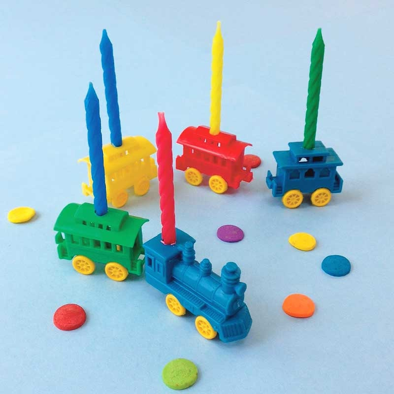 Plastic Birthday Cake Candle Holders