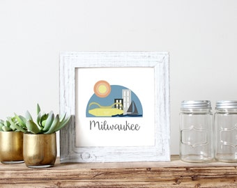 Milwaukee City Print, Downloadable