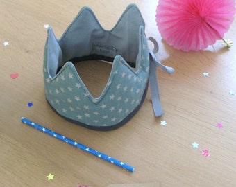 Fabric cotton crown, first birthday fabric crown