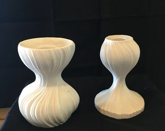 Rosenthal Onion Candlesticks by Martin Freyer