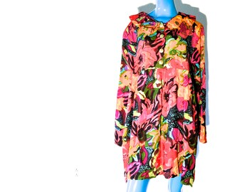 Vintage Floral Dress Colorful Summer