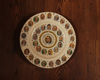 Plate of first 35 presidents