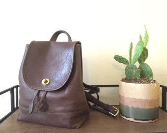 Vintage Drawstring Duffle Coach Backpack