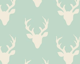 Hello Bear - Buck Forest Mint - Bonnie Christine - Art Gallery Fabric (HBR-4434-1)