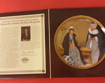 """Norman Rockwell """"Words of Comfort"""" Vintage Plate by Edwin M. Knowles China"""