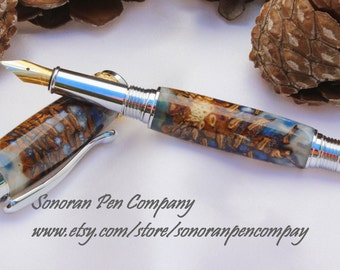 Triton Mermaid's Tail Double Pine Cone Fountain pen