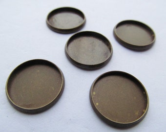Antique bronze Base Setting Bezel Tray Bezel Pendant Charm/Finding,fit 18mm Round Cabochon/Cameo