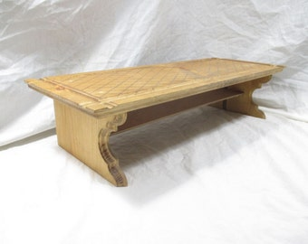 Fancy Monitor Stand With Patterned Top ~ Stained