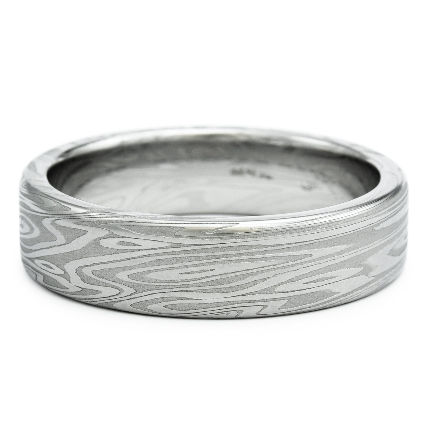 Ready to Pop the Question? Do it With a Damascus Steel ... |Damascus Steel Rings For Women
