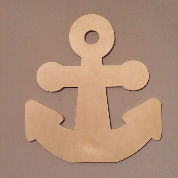 Ships fast chunky funky anchor wooden anchor nautical for Anchor door decoration